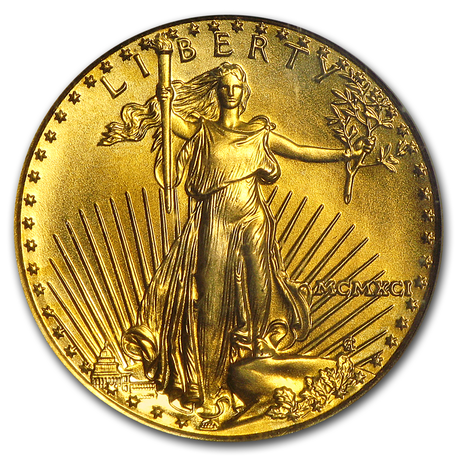 1991 1/10 oz Gold American Eagle MS-69 PCGS